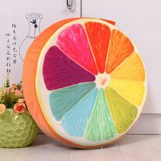 3D Summer Print Fruit Cotton Cushion Sofa Throw Pillow Home Decoration