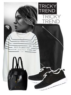 """Tricky Trend: Pencil Skirt + Sneakers"" by perilousness-fashion on Polyvore featuring Alexander Wang, MANGO, NIKE, Marc by Marc Jacobs and Wet Seal"