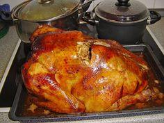 Chefkoch.de Rezept: Thanksgiving - Truthahn mit Niedrigtemperatur gegart