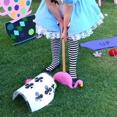 ALICE in Wonderland  Playing Card Croquet Game