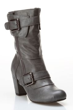 Costa Heeled Booties In Gray