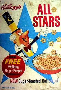 old cereal boxes | All Stars | Vintage Cereal Boxes