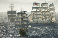 A brilliant composition of towering sails,  by Gilles Martin-Raget