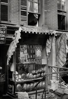 """Lower East Side, 1910 """"Bread for the poor"""" Photo from the Shorpy Archive and the George Grantham Bain Collection."""