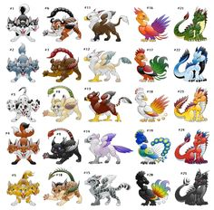 Mythical Creatures Adoptables -Closed- by Araless on DeviantArt Cute Fantasy Creatures, Mythical Creatures Art, Mythological Creatures, Cute Creatures, Magical Creatures, Cute Animal Drawings, Kawaii Drawings, Cute Drawings, Creature Drawings