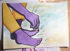 AnOTher homEwork assignment for art class (I had to draw someone painting their nails) //☆Kåt☆ (@otakucat)