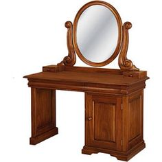 French Sleigh Vanity Dressing Table by Laurel Crown Furniture Furniture Vanity, Furniture Styles, New Furniture, Custom Furniture, Bedroom Dressing Table, Dressing Table Vanity, Dressing Tables, Mahogany Furniture, Mahogany Stain