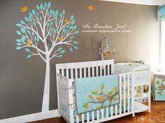 Art Wall Sticker Wall Decal  Garden Tree decal nursery by NouWall