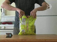 """The most useful tip I learned from pinterest? This bad boy right here... """"How To Seal a Bag Of Chips Without a Clip"""""""