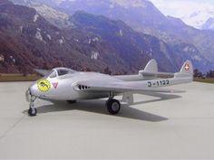 Modell de Havilland DH-100 Vampire MK.6 in Meiringen