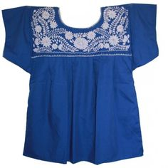 Mexican Solid White Embroidered Peasant Blouse Puebla (Blue, Medium) Luz Maria,http://www.amazon.com/dp/B00EOA8UCC/ref=cm_sw_r_pi_dp_dV67sb094JW3Y7W2