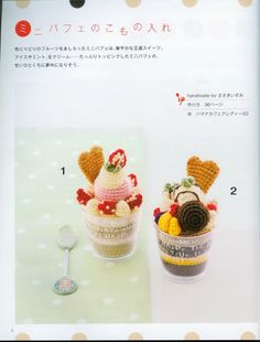 FREE Crochet Ice Cream Sundae Pattern and Tutorial (click on arrow for free crochet chart)