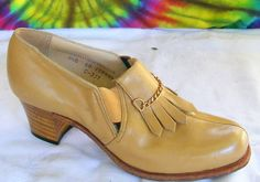 sz 5.5 B vtg 50s tan leather kilted pumps booties shoes | eBay