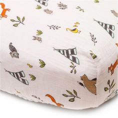 Little Unicorn Fitted Crib Sheet - Forest Friends : Target