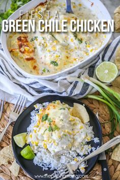 Green Chile Fiesta Chicken Bake – The Pinning Mama Mexican Food Recipes, New Recipes, Low Carb Recipes, Dinner Recipes, Cooking Recipes, Favorite Recipes, Healthy Recipes, Ethnic Recipes, Dinner Ideas