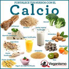 Alimentos vegetales ricos en calcio por cada 100 gramos en la dieta vegana (100% vegetariana)