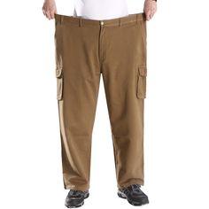Sale 11% (48.08$) - Plus Size 44-54 Multi Pockets Overalls Pants Fat Guy Cotton Casual Outdoor Pants