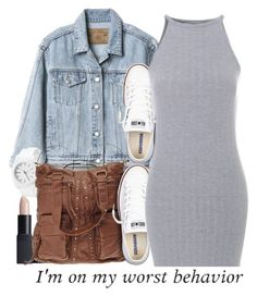 """""""untitled #199"""" by yani122 ❤ liked on Polyvore featuring Gap, NARS Cosmetics and Converse"""