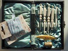 Antique sewing set in original case