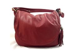 Sissy - Womens Red Genuine Leather Handbag #Sissy #Women #Leather #ShoulderBag gvgbags.com