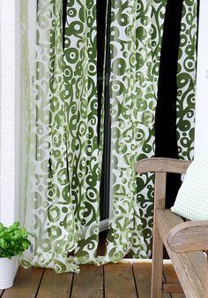 Ein neuer Türvorhang muss her – ruckzuck selbst gemacht aus einer alten Gardine