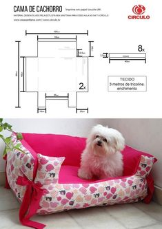 Couch Pet Bed, Diy Dog Bed, Pet Beds, Diy Couch, Diy Pour Chien, Small Dog Clothes Patterns, Diy Cat Tent, Dog Coats, Diy Stuffed Animals