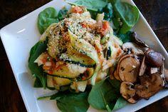 The Spinach Spot: Raw Zucchini Pasta with Marinara