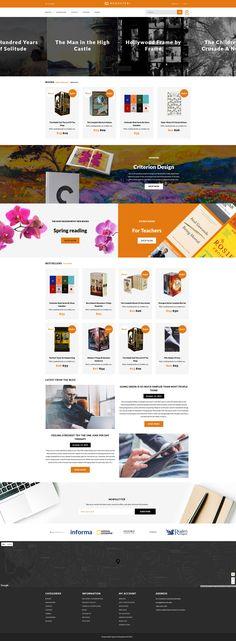Book Store Responsive OpenCart Template #63696