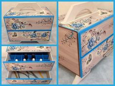 Nail Polish Organizer Wooden Storage Box with by CLVLArtsBrazil, $69.00