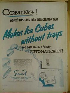 """""""Makes Ice Cubes without trays - and puts em' in a basket - AUTOMATICALLY!"""""""