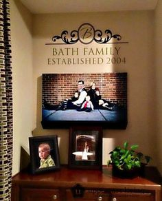 Create a beautiful family focal point in your home.  #family #awesome #focalwall #uppercaseliving #inspirationwithkathryn