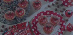 Maltesers Smiley Cupcakes