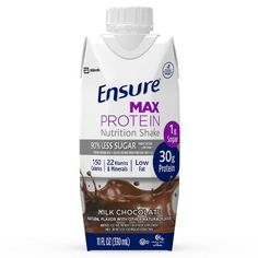 Ensure Max Protein Nutritional Shake with of High-Quality Protein of 11 30 Grams Of Protein, Low Fat Protein, Protein Nutrition, Nutrition Drinks, Nutrition Shakes, Milk Protein, Protein Shakes, Nutrition Guide