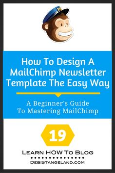Designing your own Mailchimp newsletter template is easy. Mailchimp has made the creation process simple with their template design center. Marketing Website, E-mail Marketing, Marketing Digital, Content Marketing, Affiliate Marketing, Internet Marketing, Online Marketing, Facebook Marketing, Marketing Strategies