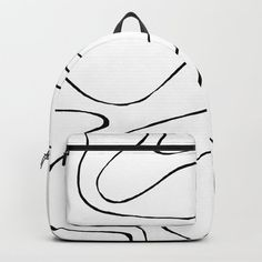 Ebb and Flow 2 - Black and White Backpack by laec | Society6