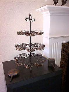Beautiful Brown Metal Cupcake Stand - Holds 20 Cupcakes