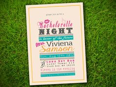 Bachelorette Night / Bridal Shower / Couple Shower / Birthday / Engagement Party - Classic Fun Trendy Cute Invitation DIY Printable on Etsy, $16.82 AUD