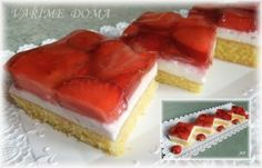 Czech Recipes, Old Recipes, Russian Recipes, Sweet Recipes, Mini Cheesecakes, Sweet Tooth, Strawberry, Food And Drink, Dessert Recipes