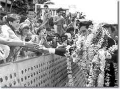 Elvis Presley : March 25, 1961 : Arriving at Honolulu Airport for that evenings U.S.S. Arizona Benefit Concert.