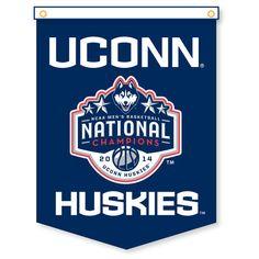 "UConn Huskies 2014 NCAA Men's Basketball National Champions 18"" x 24"" Vertical Rafter Banner - $14.99"