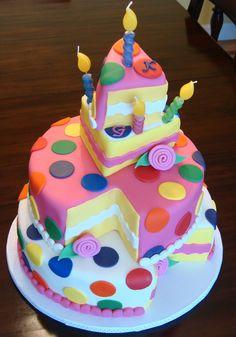 ★★~ Polka Dot Cake ~★★                                                      #birthdaycake.   #cake