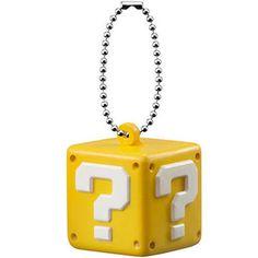 Super Mario 3D World Funyufunyu Mascot QUESTION BLOCK Key chain Figure Squeeze  #Bandai