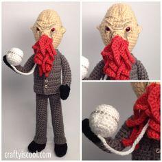 Doctor Who Ood Crochet Amigurumi PATTERN by craftyiscoolcrochet