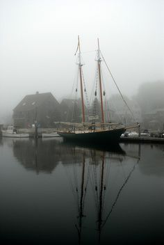 On a foggy morning like today, we wish we were seeing the Schooner Eleanor, but it's not in just yet :(