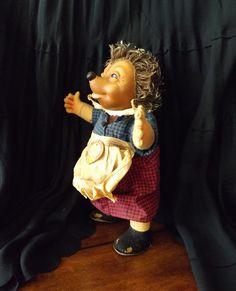 Vintage Steiff Micki Hedgehog Girl Doll 10 by GoldenBeeAntiques
