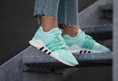 cheap adidas equipment support adv pk w auqa white shoes & trainers sale uk Eqt Support Adv, White Shoes, Lady, Trainers, Retro, Adidas Sneakers, Super, Products, Fashion