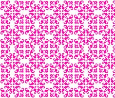 Fuchsia Weave fabric by hfpdesigns on Spoonflower - custom fabric