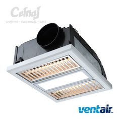 White exhaust fan with led light bathroom home improvements the regent bathroom exhaust fan by ventair features a ball bearing motor with 2 heat strips and a led panel capable of producing 1000 lumens of light aloadofball Image collections