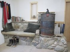 small sized heater with local stone
