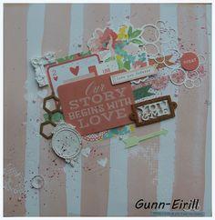 Gunn-Eirill`s Paper Magic: Pink Layout whith Kaisercraft